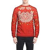 FANOUD Men's Blouse Christmas Long Sleeve Print Top Autumn Winter Casual Christmas Printing Top