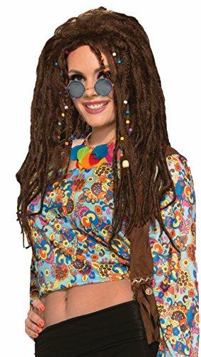Forum Women's Generation Hippie Dreads Wig, Brown, One (Halloween Dreads)