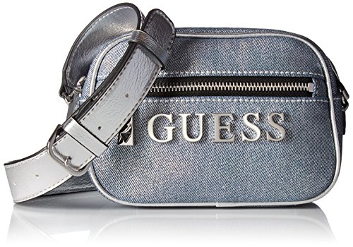 GUESS Manhattan Denim Mini Crossbody Top Zip