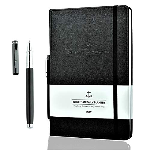 Christian Daily Planner 2019 Weekly Monthly and Yearly Planner with Quality Metal Pen Achieve Personal Professional & Spiritual Goals