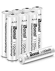 BONAI AAA Oplaadbare Batterijen 1100mAh Hoge Capaciteit Wiederaufladbare Akku,1,2V AAA NI-MH Rechargeable Batteries Lage Zelfontlading
