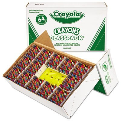 Classpack Regular Crayons, Assorted, 13 Caddies, 832/Box, Sold as 832 Each