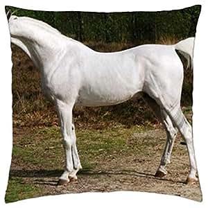 White Arabian - Throw Pillow Cover Case (18