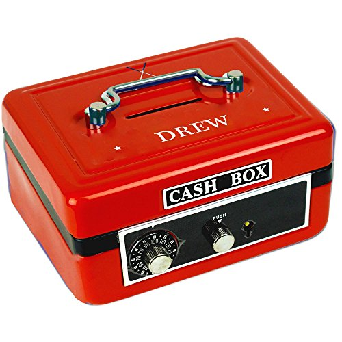 Golf Ball Bank - Personalized Golf Red Cash Box