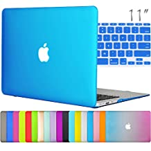 "Easygoby 2in1 Matte Frosted Silky-Smooth Soft-Touch Hard Shell Case Cover for 11-inch MacBook Air 11.6"" (Model A1370 / A1465) + Keyboard Cover - Aqua Blue"