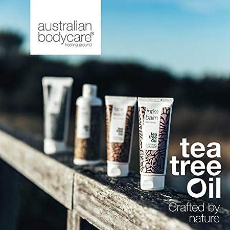 4 productos faciales de Australian Bodycare: para piel grasa y propensa a manchas, granos y acné. Con aceite de árbol del té de calidad farmacéutica y 100% de pureza: lavado, tónico, crema y stick
