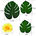 baotongle-48-pcs-Large-Artificial-Tropical-Palm-Leaves-with-48-pcs-Artifical-Rose-Flower-Tropical-Leaves-Hawaiian-Luau-Party-Jungle-Beach-Theme-Decorations-for-Table-Decoration-Accessories
