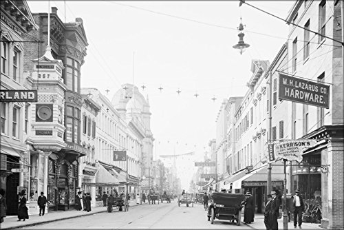 24x36 Poster; King Street, Looking North, Charleston, S.C., Between 1910 And - Charleston Street King