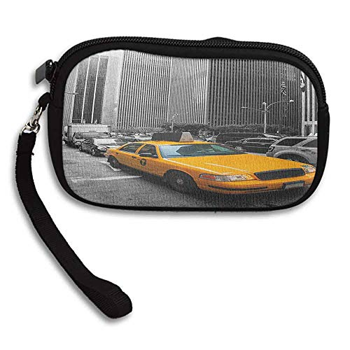 (City Travel Wallet Yellow Cab in New York City Touristic Attractions Traffic Road Photography W 5.9
