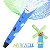Myriwell 3D Pen DIY 3D Printer Pen Professional 3D Printing Drawing Pen Best for Kids with ABS Filament 1.75mm Christmas Birthday Gift