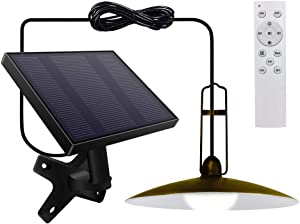 OKEER Solar Lights Outdoor, Upgraded Solar Shed Lights IP65 Waterproof 15ft Cord Remote Control 28 LED Pendant Lights with Adjustable Solar Panel for Garden Indoor Outdoor
