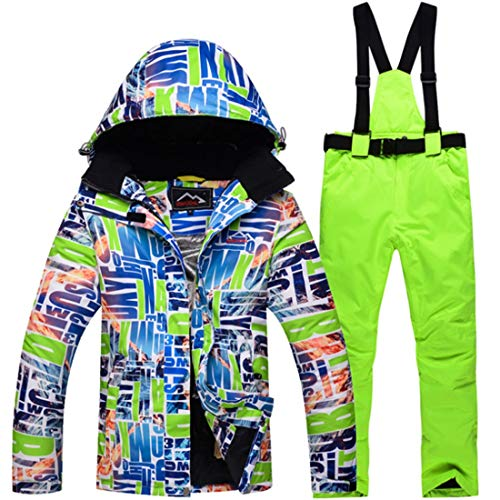KERVINJESSIE Chaqueta de esquí Impermeable para Mujer y pantalón para Rain Snow (Color : 05, Size : L)