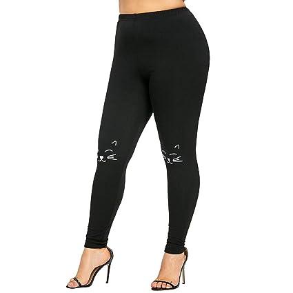 Saingace - Pantalones de Yoga elásticos para Mujer, tamaño Grande ...