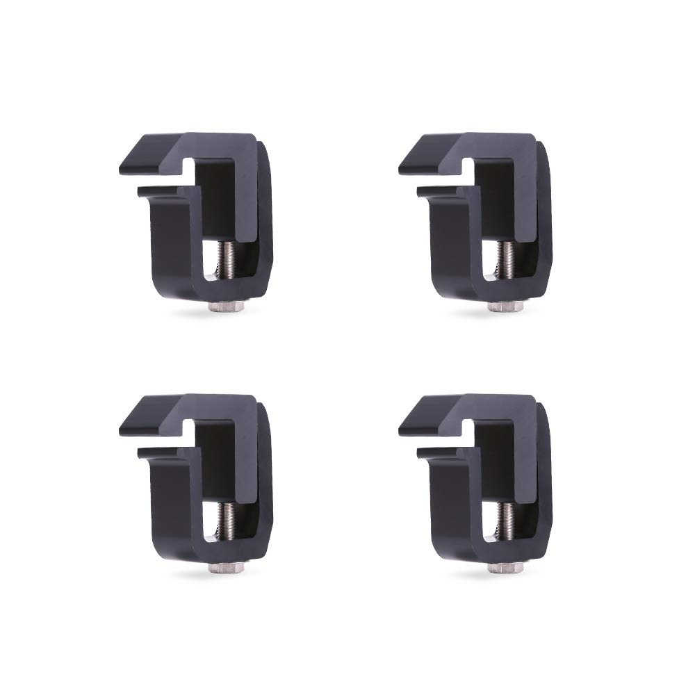 AA-Racks P-AC-03 Clamp for Truck Cap, Camper Shell, Topper, Truck Lid, Tonneau Cover for a Short Bed Pickup Truck (Set of 4),Silver