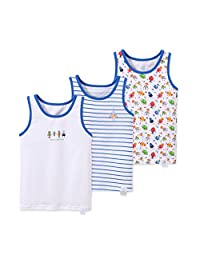 CHUNG 2T-13Y Toddler Kids Boys Cotton Undershirts Tank Tops Tee 3 Pack