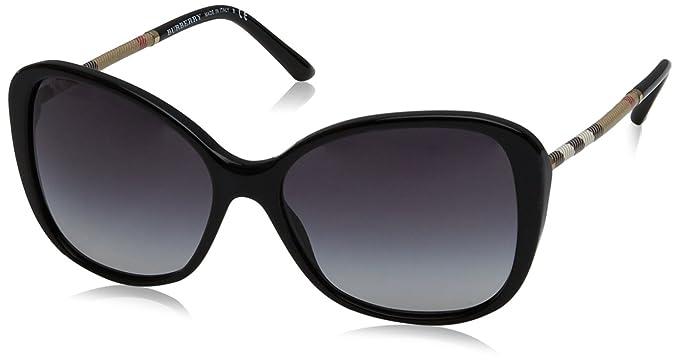 66a1986827 Amazon.com  Burberry Women s 0BE4235Q Black Gray Gradient One Size ...