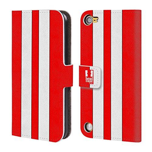 Head Case Macchina Da Corsa Rossa Dipinti Di Trasporti Cover telefono a portafoglio in pelle per Apple iPod Touch 5G 5th Gen / 6G 6th Gen