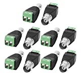 Haiker 10 Pairs Coaxial Camera Vedio BNC Female and Male Balun Connector for Coax CAT5 to CCTV