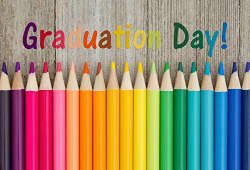 Baocicco 5x3ft Graduation Day Backdrop Wood Backdrop Colorful Crayons Wooden Wall Photography Background Graduation Party Prom Theme Birthday Party Primary School Kindergarten Photo Studio Shoot]()