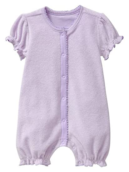 5820cc12fee Image Unavailable. Image not available for. Color  Baby Gap Girls Lavender  Terry Knit Romper ...