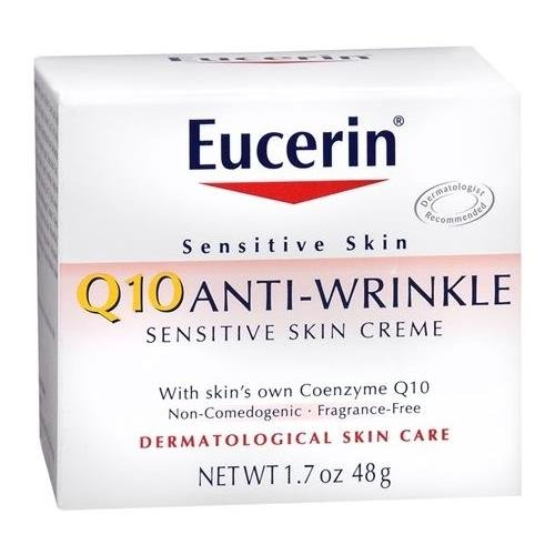 Eucerin Q10 Anti-Wrinkle Sensitive Skin Creme 1.7 OZ - Buy Packs and SAVE (Pack of 2)