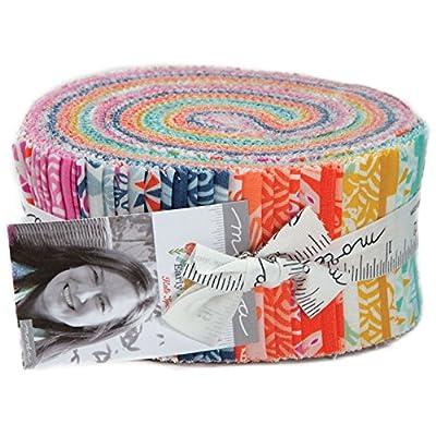 Kate Spain Early Bird Jelly Roll 40 2.5-inch Strips Moda Fabrics 27260JR from Moda Fabrics