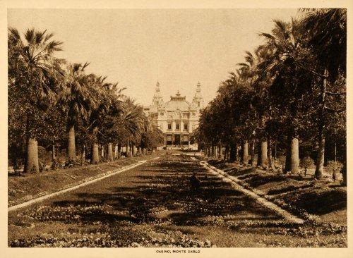 1913 Intaglio Print Casino Monte Carlo Garnier Beaux Arts Architecture Monaco - Original Intaglio - Bello Monte