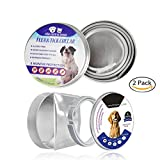 2 Pack Flea and Tick Adjustable Waterproof Collar for Dogs/Cats - Last for 8 Months with Natural Plant Extracts Pet Treatment One Size Fits ALL