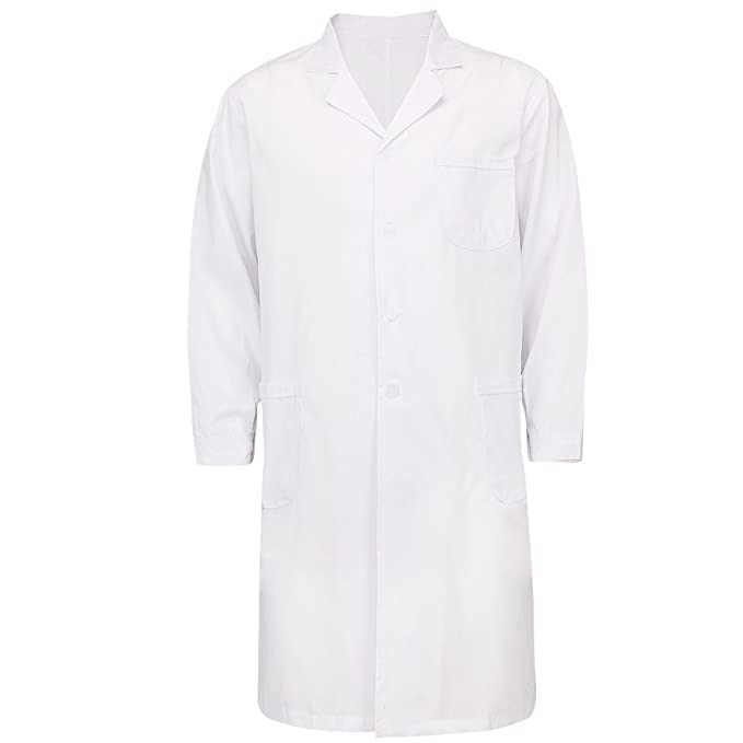 Amazon.com: Freebily Men Women Scrubs Lab Coat Medical Nurse ...