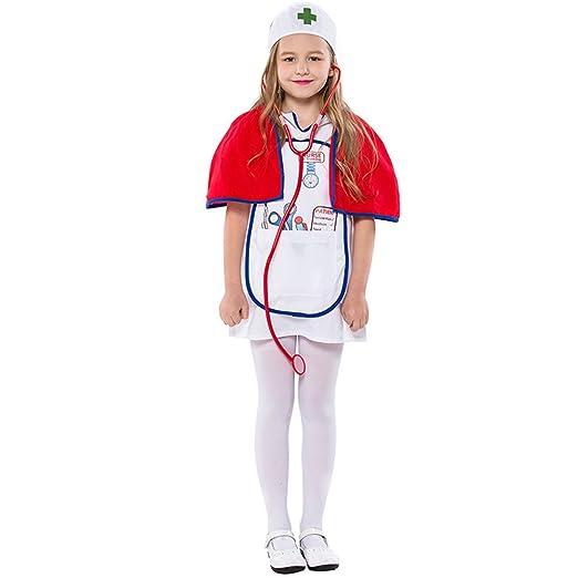 918816372a147 Amazon.com: LOLANTA Kids Girls Nurse Costume Toddler Halloween Nurse Fancy  Dress: Clothing