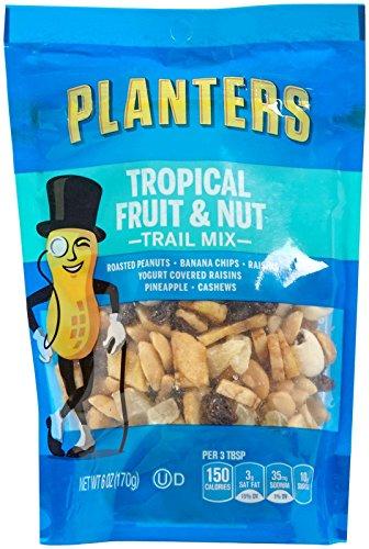 Planters Trail Mix, Tropical Fruit & Nuts, 6 oz Bag