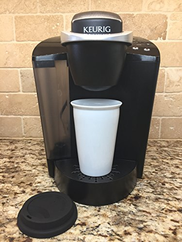 Insulated Ceramic around coffees Cup 10 oz Glossy White 2 Walled Ceramic using Black Silicone sport bike helmet BPA Free greatest Value Commuter around Mugs
