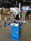 Precision Matthews PM-7x27M Milling Machine, w/ 3 axis DRO Installed, X Axis Power Feed, Complete Base, 3 Year Warranty