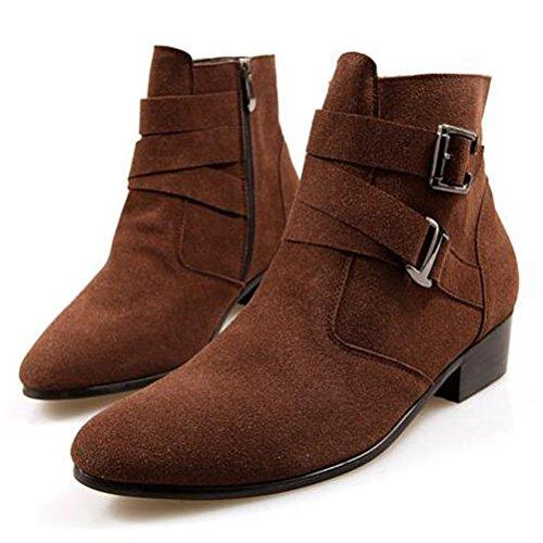 Herren Fleece Stiefel Style2 Martin Leisure MatchLife Stiefel Kurzschaft Braun Uq8dUw6