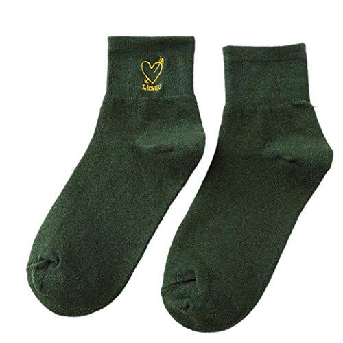 Skateboard Costume Ideas (Hoshell Winter Sock Hip Hop Unisex Creative Harajuku Letter Cotton Skateboard Sock Comfortable Socks (Green))