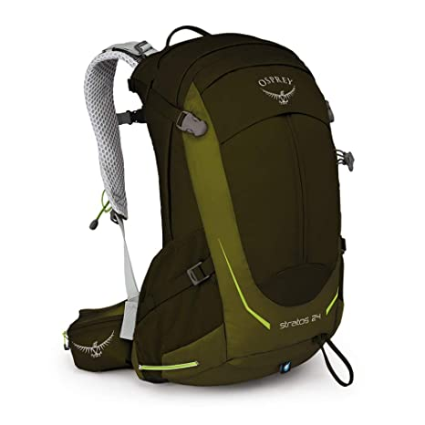 Osprey Stratos 24 Mens Ventilated Hiking Pack - Gator Green (O/S): Amazon.es: Deportes y aire libre