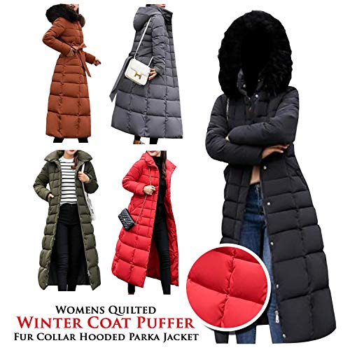 NMFashions Women Winter Puffer Fur Coat]()