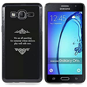 Stuss Case / Funda Carcasa protectora - Viejos Películas Dios Religiosa Negro Blanco - Samsung Galaxy On5 O5