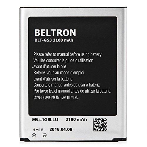 BELTRON Replacement Battery for Galaxy S3 SIII, (Compatible with AT&T Boost MetroPCS Sprint T-Mobile Verizon Models) - EB-L1G6LLA/LZ/LU - BLT-GS3