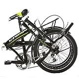 "ORKAN 20"" Shimano Hybrid 6 Speed Folding Bicycle Sports Foldable Bike Green"