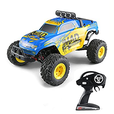 KINGBOT RC Cars, 1:12 4WD High Speed 40 Killometer/H Big Size Short Courses Truck Electric Remote Control Off Road Monster Hobby RC Buggy Cars with 7.4V /1500 MAh Rechargeable Batteries