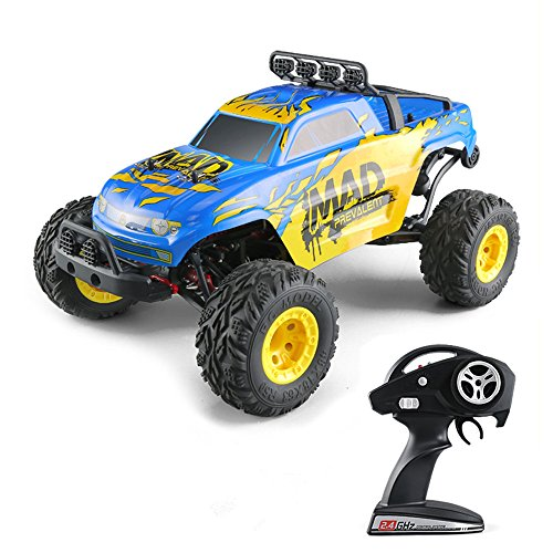 RC Cars,KINGBOT 1:12 4WD High Speed 40 KM/H Big Size Short-Courses Truck Electric Remote Control Off Road Monster Hobby RC Buggy Cars with 7.4V/1500mAh Rechargeable Batteries by KINGBOT