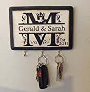 Personalized Wedding Gift- Monogram Key Holder. Awesome for Engagement Gift, Bridal shower, Couple's Gift, Housewarming. Wedding gift idea