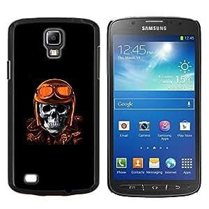 "Be-Star Único Patrón Plástico Duro Fundas Cover Cubre Hard Case Cover Para Samsung i9295 Galaxy S4 Active / i537 (NOT S4) ( Oro de Brown Racing Biker Skull Piloto"" )"