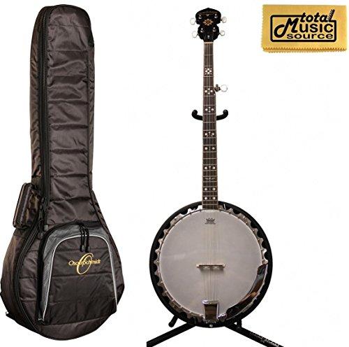 LEFTY Oscar Schmidt 5-String Banjo w/ Oscar Padded Gigbag, OB5LH BAG by Oscar Schmidt