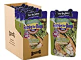 Three Dog Bakery Entree For Dogs, Chicken Broccoli Carrots and Rice Recipe, 12 ounces, 7/pack, My Pet Supplies