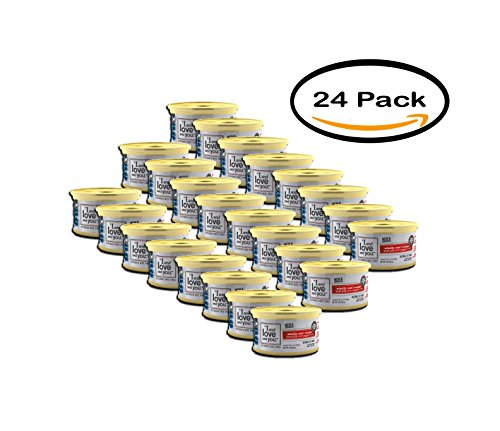 PACK OF 24 - ''I and love and you'', All Natural Canned Cat Food, Wholly Cow! Pâté, 3 oz (24 pack) by I and love and you