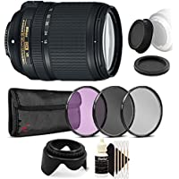 Nikon AF-S DX NIKKOR 18-140mm f/3.5-5.6G ED Vibration Reduction Zoom Lens with Auto Focus for Nikon DSLR Cameras with Accessories