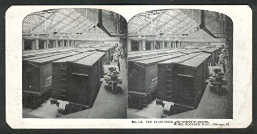 The Jumping Frog Sears Roebuck Stereoview 13 Train Shed Shipping Rooms Chicago Il 1900