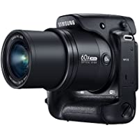Samsung WB2200F 16.3MP CMOS Smart WiFi & NFC Digital Camera with 60x Optical  Zoom, 3.0' LCD and 1080p HD Video (Black)